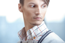 side profile of a male model