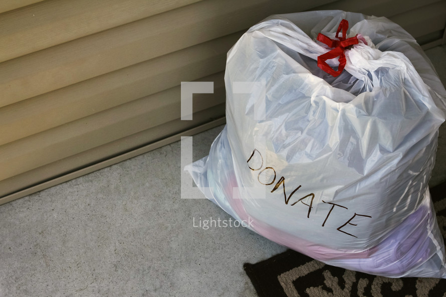 bags of clothes to donate