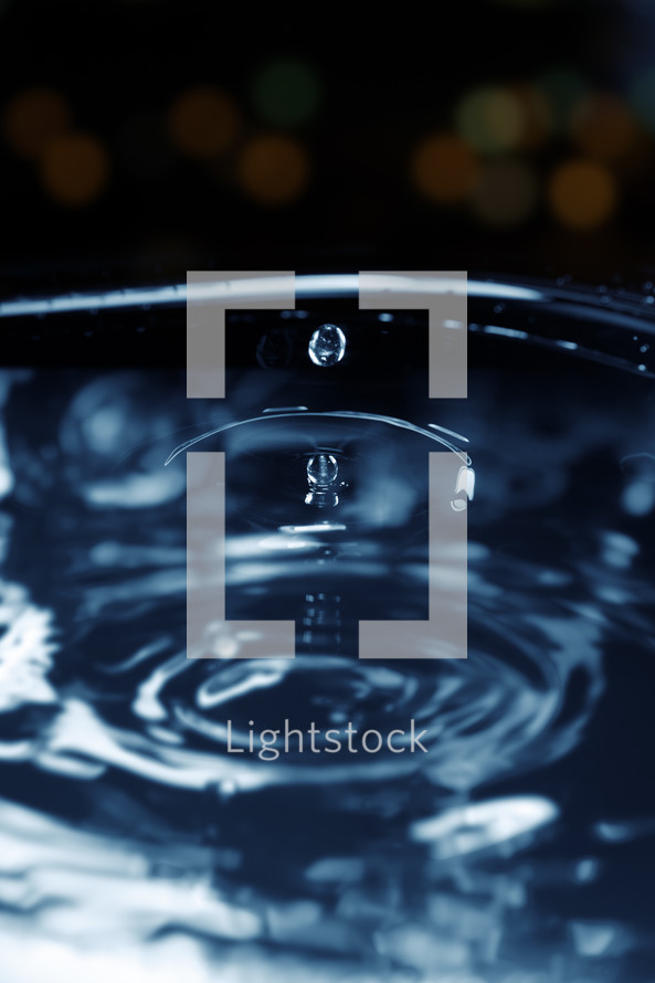 splashing water droplet