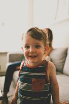 a smiling toddler boy