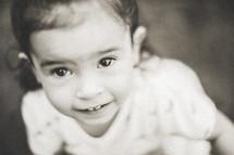 smiling toddler latino girl