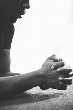 man in prayer - repentance