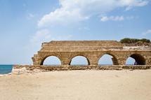 Ancient Roman aqueduct in what was Caesarea.