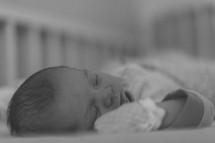 a sleeping newborn