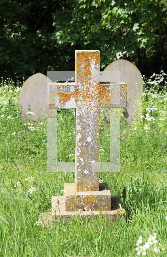 cross shaped grave marker