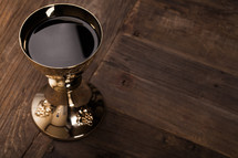 chalice of wine at eucharist