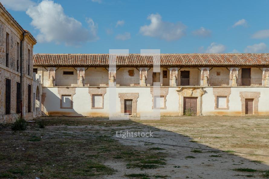 courtyard in Nuevo Baztán