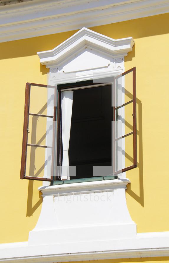 open window in Rome