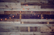 star lights on wooden boards