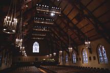 A beautiful, empty church sanctuary.