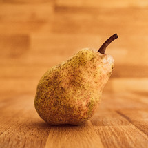 pear on a wood background