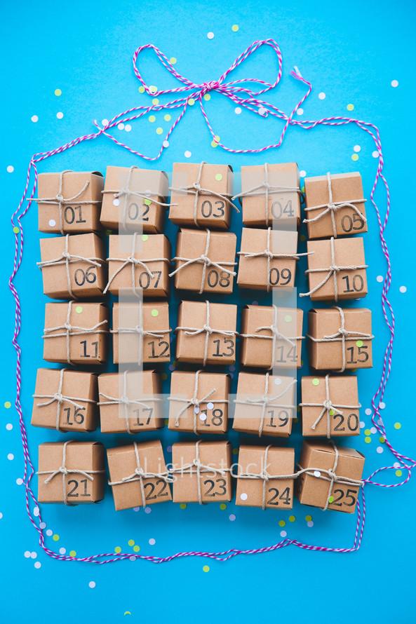 advent calendar presents
