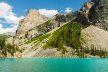 mountains and mountain lake
