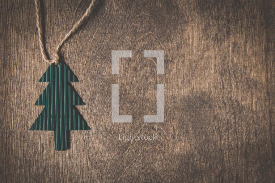 paper pine tree on twine