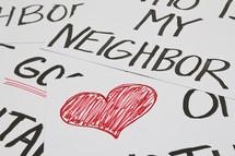 the good samaritan, love your neighbor, heart your neighbor, who is your neighbor, heart one another, love one another