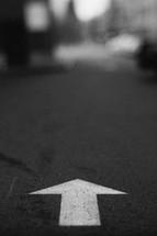 arrow pointing