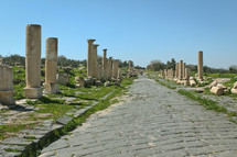 Colonnaded street in Umm Qais, Jordan