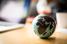 globe paper weight