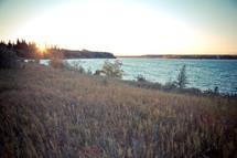 Edge of the reservoir.