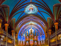ornate cathedral ceiling and altar