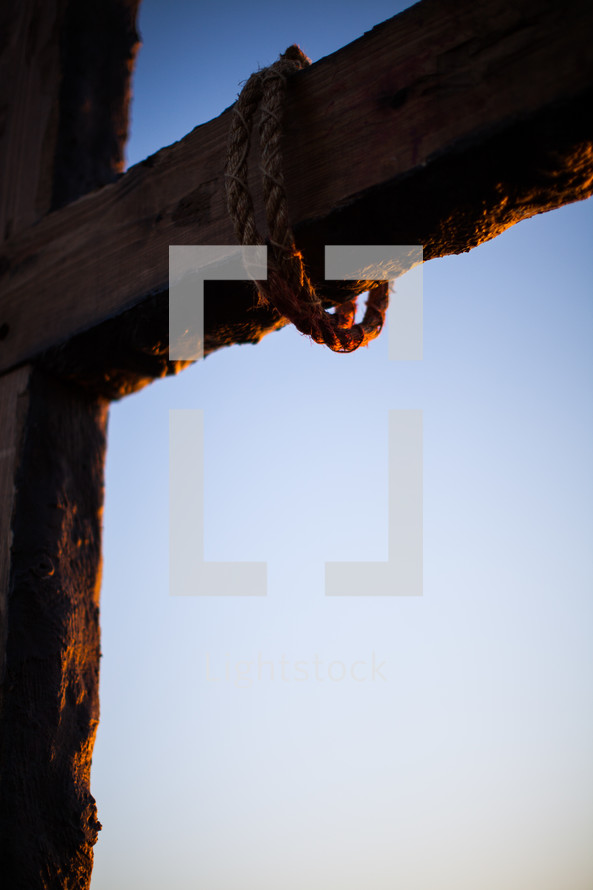 Rope on the cross.