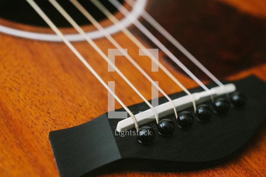 guitar strings closeup