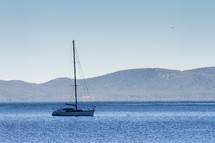 Sailboat on Lake Tahoe, California