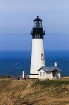 tourists visiting a lighthouse