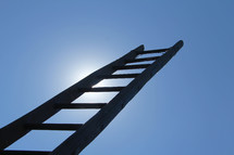 ladder reading towards the sky