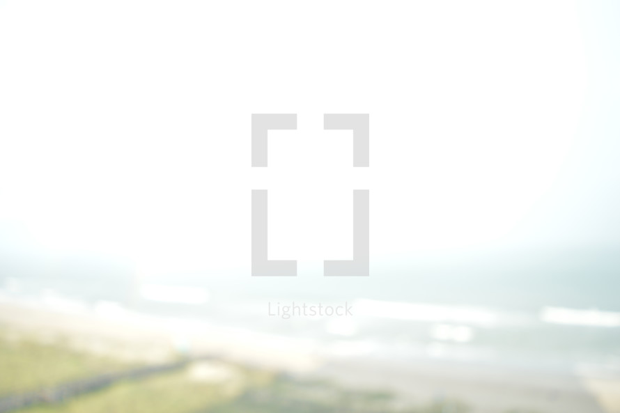 out of focus coastal view