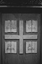 gospels on church podium