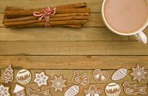 Christmas cookies and apple cider