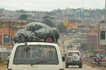 luggage on the roof of a car