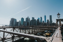 bridge and NYC skyline