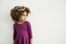 sassy girl child in a tiara