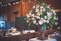 flower arrangement on a table