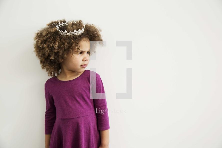 sassy girl child in a tiara