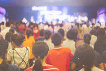 young people during a worship service