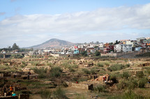 village near a mountain