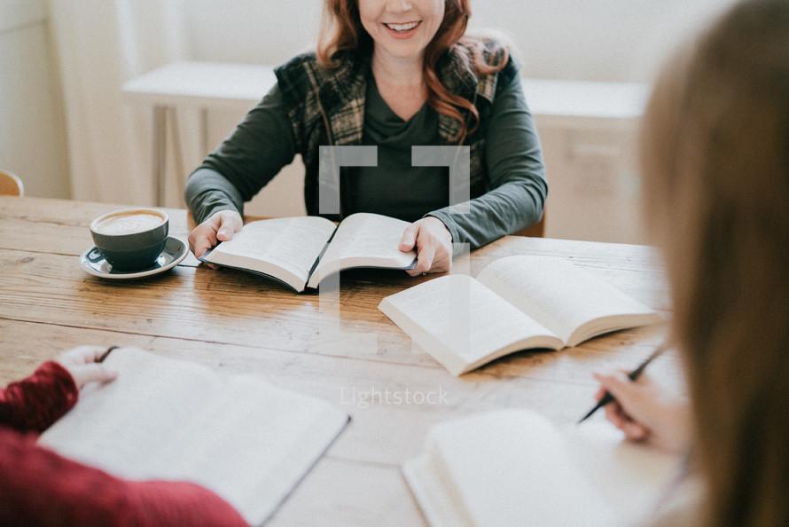 women at a fall Bible study
