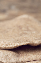 close up of unleavened bread