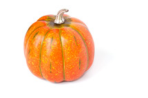An orange pumpkin.