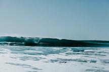 waves and sea foam