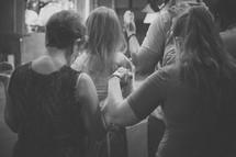 fellowship and prayer at a worship service