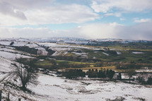 snow on a hill