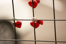 Jesus on heart shaped love locks