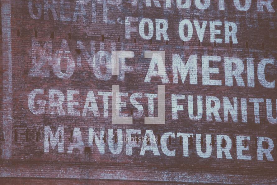 furniture company sign