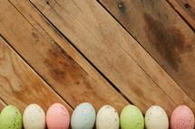 speckled pastel Easter eggs