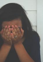 crying teenage girl