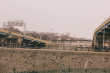 Highways and overpasses.